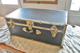 Vintage Trunk Coffee Table Old Trunk Turned Shabby Chic Coffee Table Hometalk