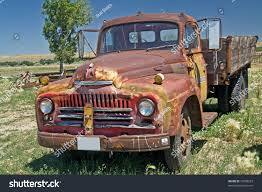 wooden pickup truck classic international truck wooden truck bed stock photo 15699253