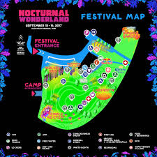 Festival Map Experience Nocturnal Wonderland 2017