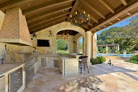 kitchen mediterranean backyard designs with awesome home design