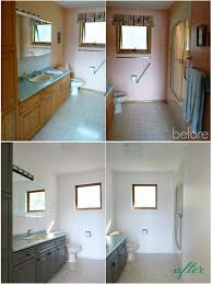 bathroom before after dans le lakehouse