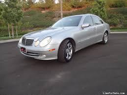 mercedes california used 2003 mercedes e class sedan limo irvine california