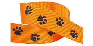 paw print ribbon buy hip girl boutique 20yd or 4x5yd 7 8 quot paw print ribbon