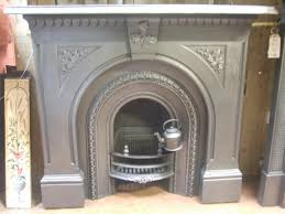 victorian cast iron surround u0026 arched insert 092cs old fireplaces