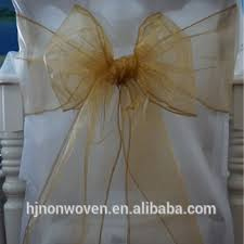 organza chair sashes fancy gold organza chair cover sashes for wedding buy gold chair