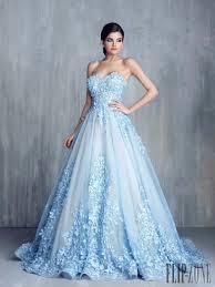wedding dress blue tony chaaya summer 2016 couture summer 2016