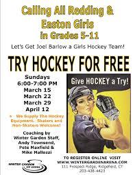 redding easton girls try hockey winter garden ice arena llc