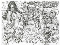 mr cartoon tattoo flash chicanos boog tattoo flash