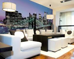 wall mural ideas diy inspiration for home decor manhatten lights mural