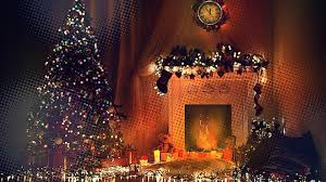 fireplace trees toys clocks lights hd wallpapers desktop and