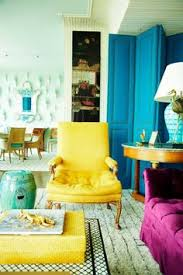 Love The Bright Colors Against The WhiteBohemian Style Living - Living room bright colors