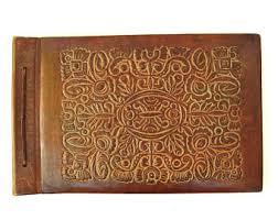 leather bound scrapbook vintage leather scrapbook etsy