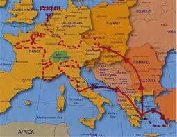 Prague Map Europe by Thirsty Nomads 93 Days In Europe Grapes And Grains