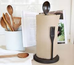themed paper towel holder craft a utensil themed paper towel holder pottery barn inspired