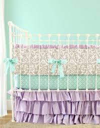 Lilac Damask Crib Bedding Gray Lilac Damask Baby Bedding Baby Room Pinterest Baby