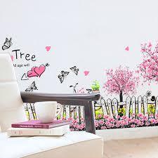 fleurs dans une chambre le romantique amour stickers muraux chambre salon