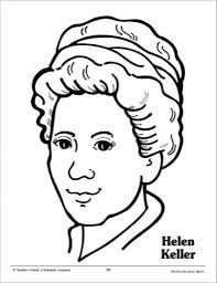 helen keller coloring page with regard to invigorate cool