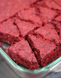 red velvet santa hat brownies