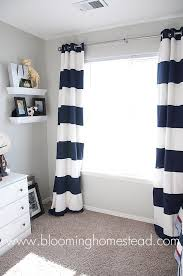 Blue And Red Striped Curtains Striped Curtains How To Striped Curtains Homesteads And Ceiling