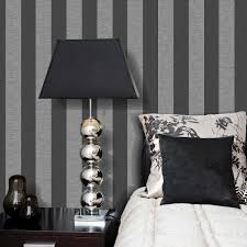 Grey Wallpaper Living Room Uk Grey Striped Wallpaper Image Is Loading Email Address Atonal
