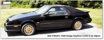 1986 dodge charger shelby turbo for sale dodge daytona and chrysler laser chronology of changes and features