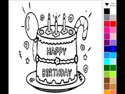 cake coloring pages kids birthday cake coloring pages