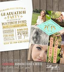 2015 tribal senior graduation announcement invitation