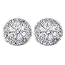 stud diamond earrings diamond earrings 1 tcw pave halo diamond stud earrings in