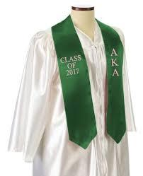aka graduation stoles alpha kappa alpha graduation sash stole sale 29 95 gear