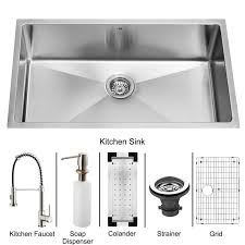 Stainless Steel Grid For Kitchen Sink by Vigo Vg15079 Undermount Stainless Steel Kitchen Sink With Faucet