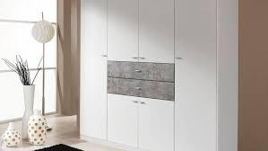 Schlafzimmerschrank Grau Landsberg Extra Schrank In Weiß Und Stone Grau 181 Cm