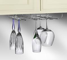 amazon com spectrum diversified under cabinet wine glass rack and