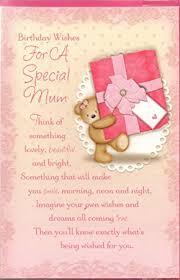 mum birthday card birthday wishes for a special mum cute bear