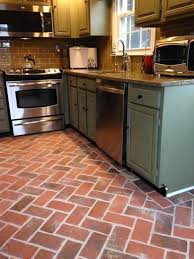 tile in dining room 70 best kitchen and dining room brick tile floors images on