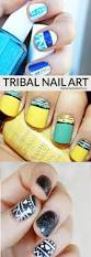 tribal inspired nail art design mommy moment