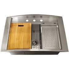 Ticor Kitchen Sinks Ticor Tr2000 Overmount 16 Stainless Steel Square Kitchen