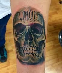 tattoo studio tattoos general realistic color skull tattoo