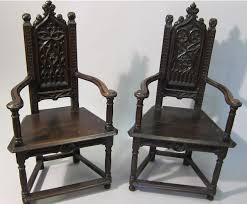 Antique Armchairs Pair Of Antique French Gothic Style Armchairs Caquetoires