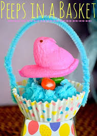 peeps basket peeps in coconut nests and cupcake liner baskets