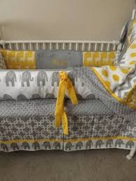 elephant grey and yellow crib bedding yellow elephant 5 piece