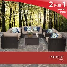 Patio Furniture Clips Premier 7 Piece Outdoor Wicker Patio Furniture Set 07c
