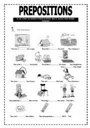 prepositions of place worksheet by hugo lima