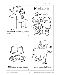 producers to consumer milk and trees 3rd 4th grade worksheet