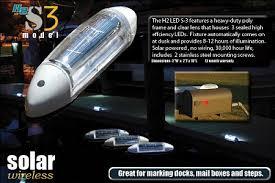 solar led dock lights h2 s3 w solar touchstone dock deck light sold in pair