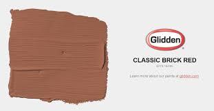 classic brick red paint color glidden paint colors