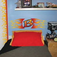 flame wall mural kids harley davidson bedding on flame wall
