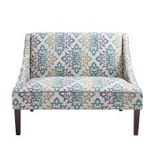 amazon com avalon swoop arm settee teal see below kitchen u0026 dining