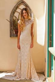 simple bohemian lace wedding gowns katie may boho wedding