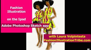sketching african print fashion adobe photoshop sketch app youtube