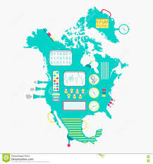 Map Of Nirth America by Map Of North America Machine Stock Vector Image 71992570